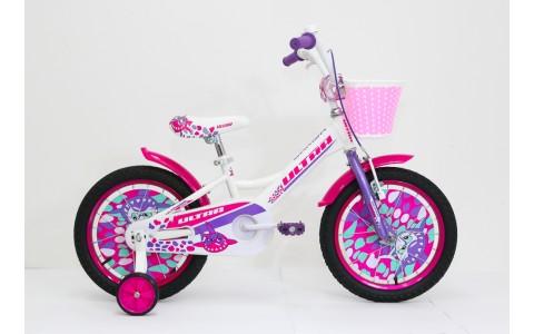 Bicicleta copii Ultra Larisa, 16inch, alb-mov-roz