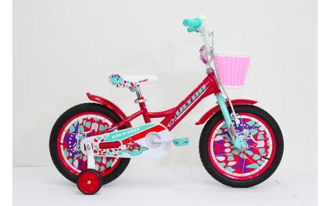 Bicicleta copii Ultra Larisa, 16inch, rosu-vernil