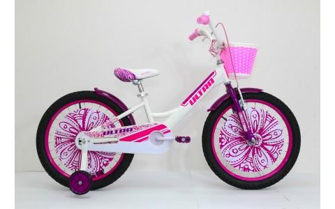 Bicicleta copii Ultra Larisa, 20, alb-mov-roz