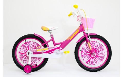 Bicicleta copii Ultra Larisa, 20, roz-galben