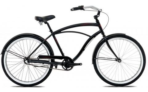 Bicicleta Cruiser, Oras, Devron, Urbio U2.6, Negru-Rosu, Cadru Aluminiu, Janta 26 inch