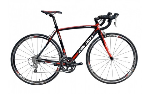 Bicicleta MTB, Devron, Urbio R4.8, Negru-Rosu, Cadru Aluminiu, 20 Viteze