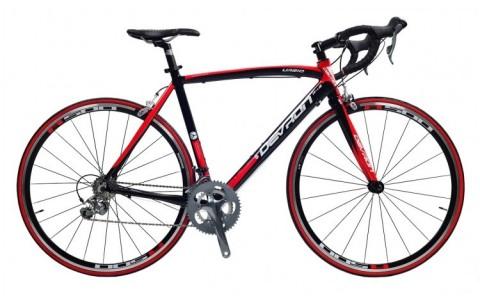 Bicicleta, Devron, Road Race R4.8, Negru-Rosu, Cadru Aluminiu, 20 Viteze