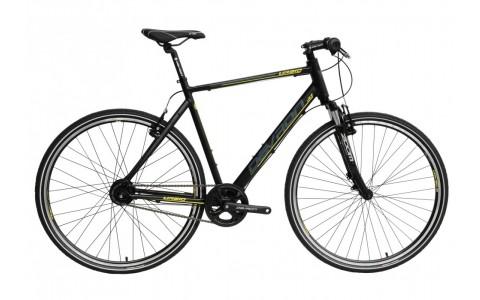 Bicicleta Oras, Devron, Urbio U2.8, Negru-Galben, Cadru Aluminiu, Jante 28 Inch