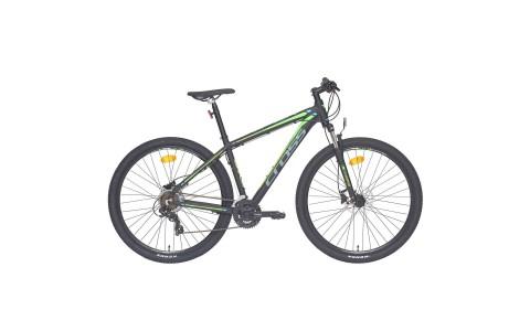 Bicicleta MTB Cross Viper HDB, 41cm, 27.5, negru-verde