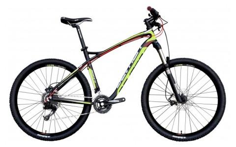 Bicicleta MTB, Devron, Zerga D5.7, Negru-Verde, Cadru Aluminiu, Jante 27.5 inch