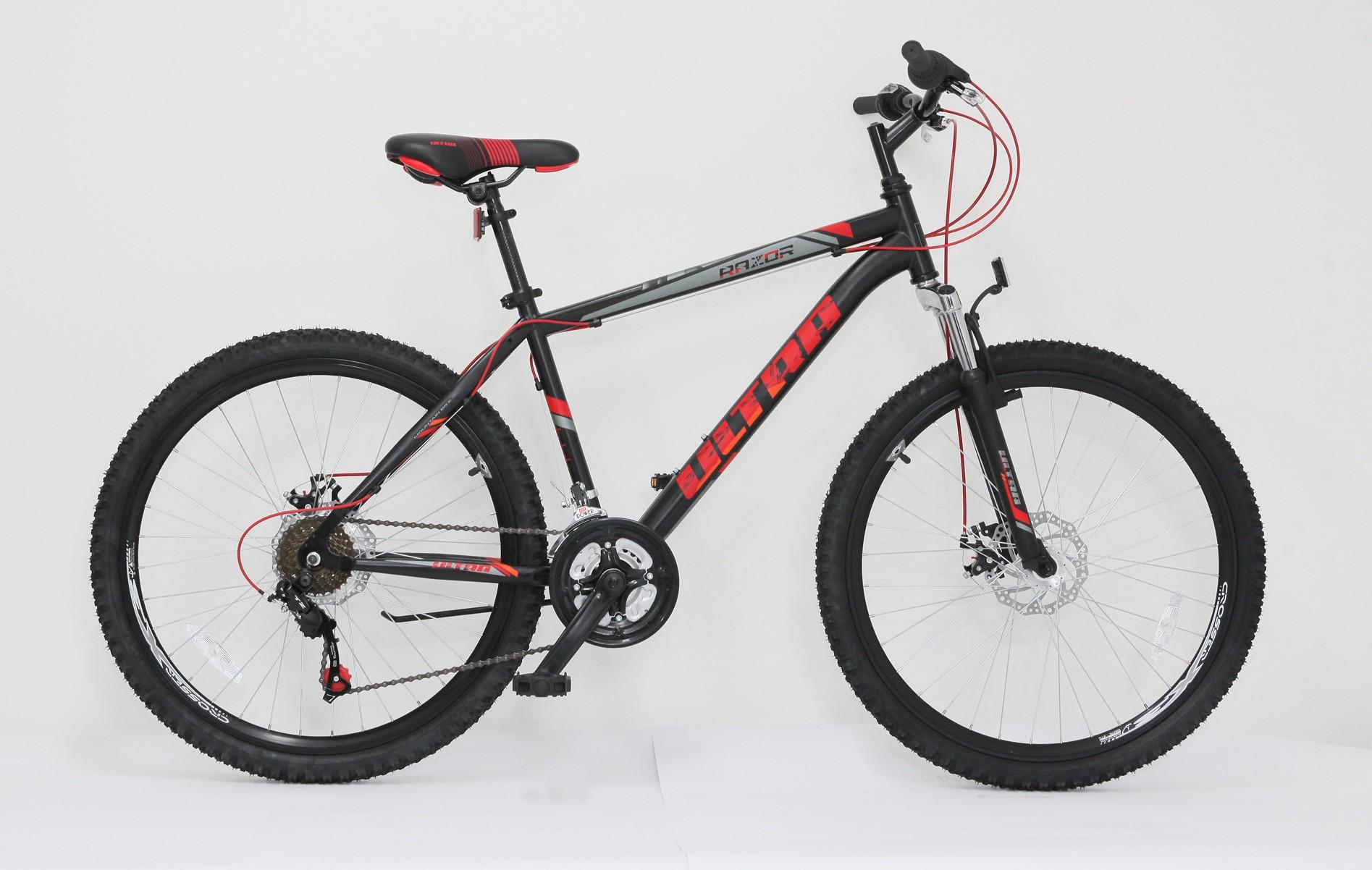 Imagine indisponibila pentru Bicicleta MTB Ultra Razor, 26inch, 440mm, negru-rosu