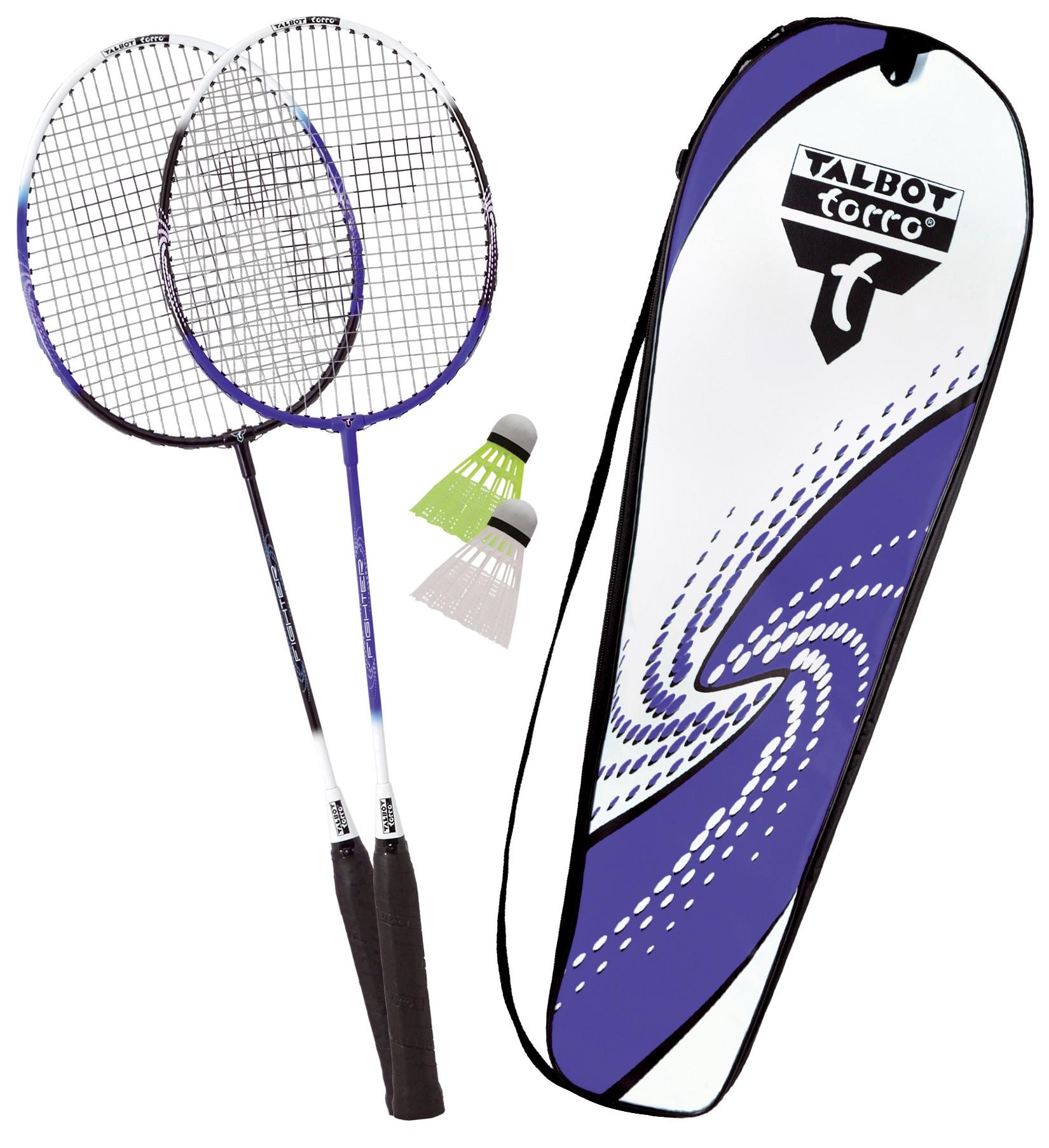 Set Badminton  Talbot Torro  2 Fighter  Rachete + Fluturasi + Husa