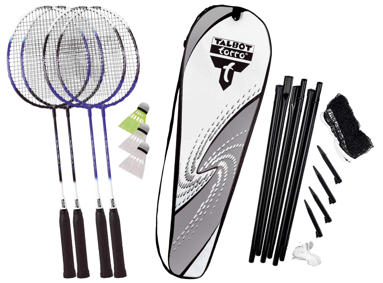 Set Badminton  Talbot Torro  4 Fighter  Rachete + Fluturasi + Plasa Cu Ancora