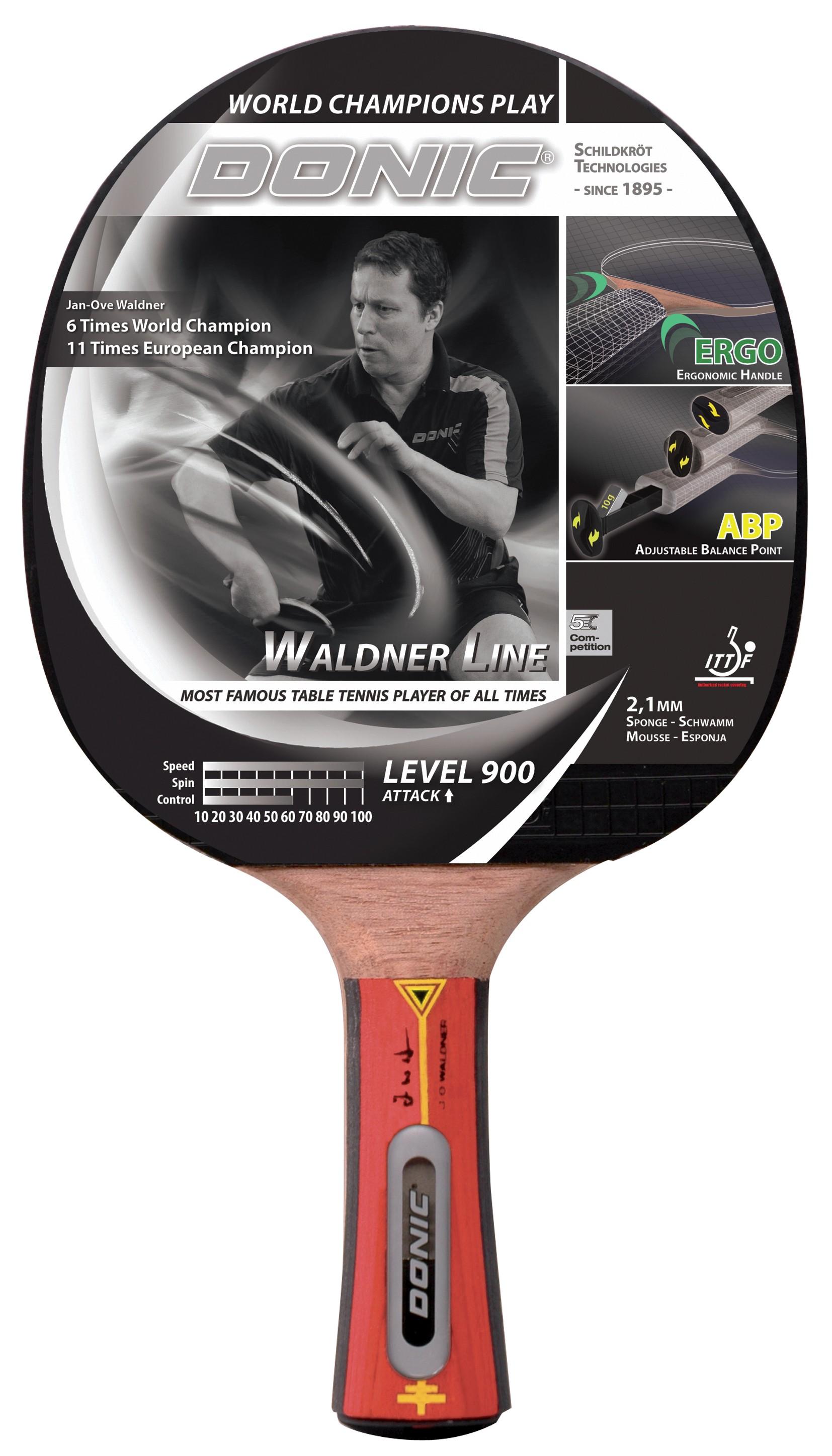 Paleta Tenis De Masa  Donic  Waldner  Line Level 900  Atac  Concav