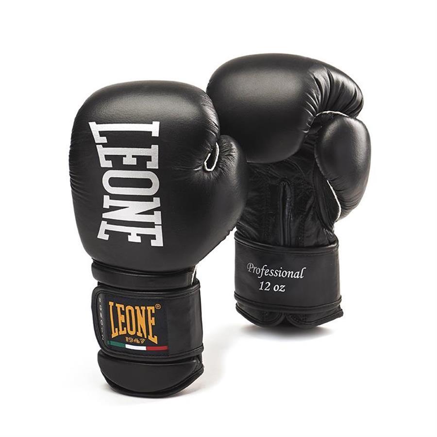 Manusi Box  Leone  Professional  Gn012-01  Negru  Marime 14 Oz