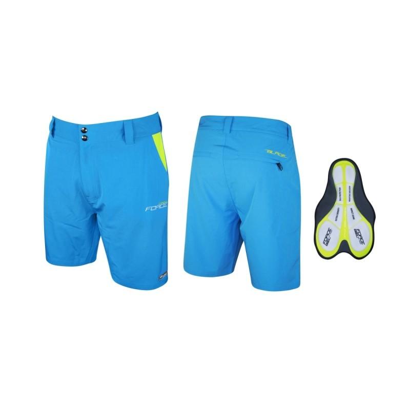 Pantaloni Force Blade Mtb Cu Sub-pantaloni Cu Bazon Albastru Xxl