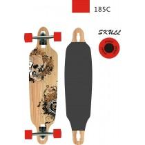 Longboard, Spartan, Skull, 38 inch, Ax Aluminiu, 95.5x23 cm