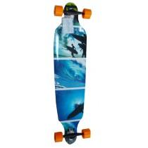 Longboard, Spartan, Surfer Blue, 42 inch, ABEC 7, 105x24 cm