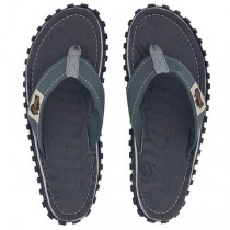 Slapi Flip Flop Gumbies, Islander Canvas, Men's - Cool Grey