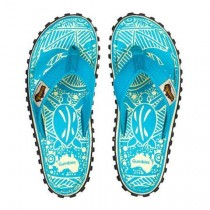 Slapi Flip Flop Gumbies, Islander Canvas, Turquoise