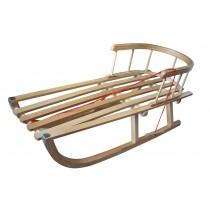 Sanie din lemn cu spatar, KINGA A0904, Axer, Stejar-Fag